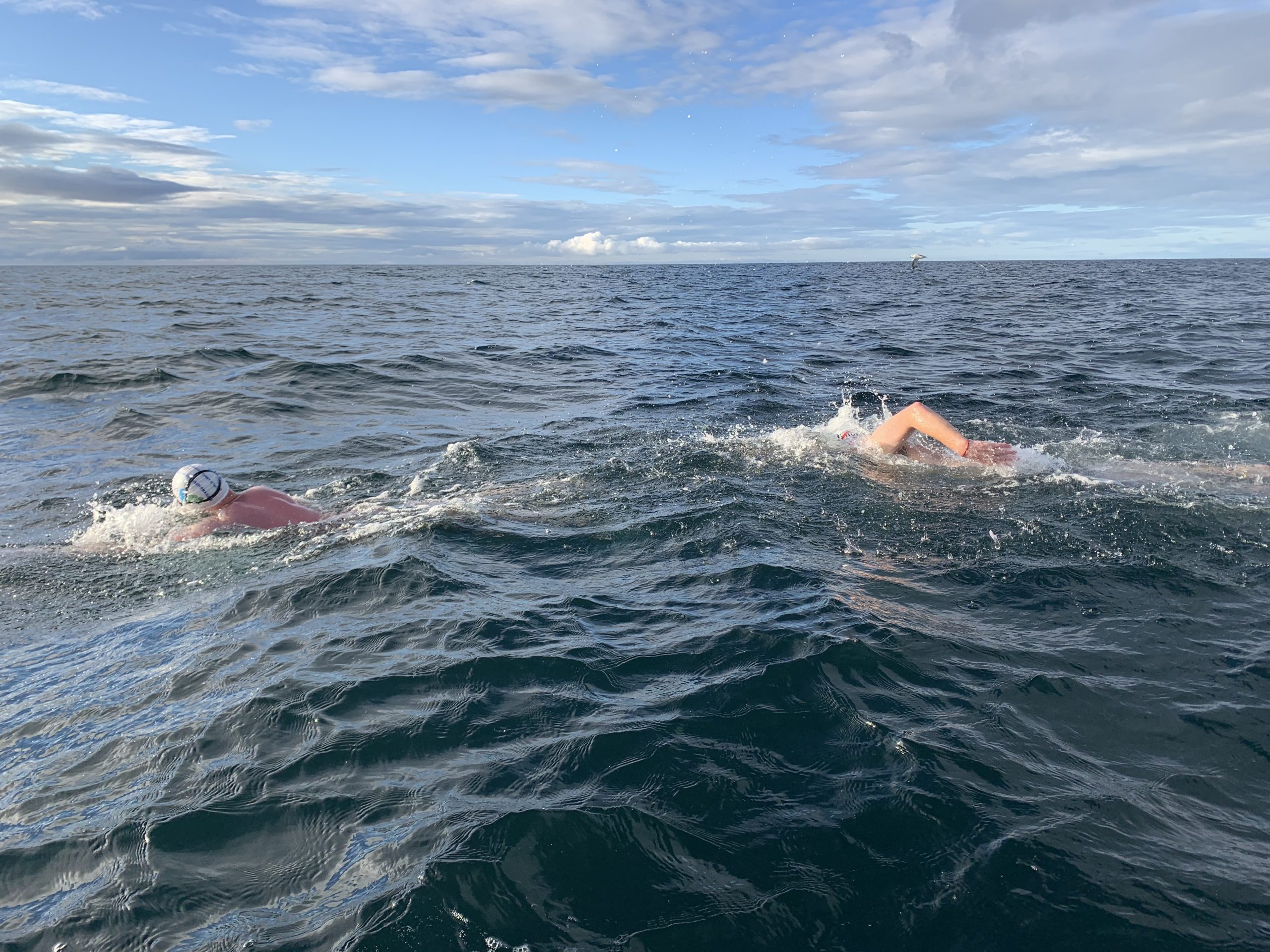 OA Giants setting a new North Channel record, 2 August 2020